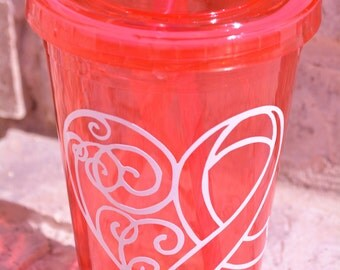 Q Cup Breasts breast cancer tumbler ...