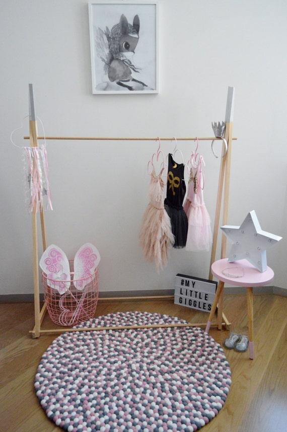 my little giggles kids wooden clothes rack dress up clothes. Black Bedroom Furniture Sets. Home Design Ideas
