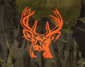 Camo Apron - Camouflage apron with Deer head embroidery - Hunter gift - Free Shipping