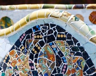 Tiles - Gaudí - Park Güell - Barcelona - Catalonia - Spain - Espana - Photo - Print