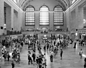 Grand Central Terminal - Black and White - New York City - NYC - Manhattan Island - USA - Photo - Print