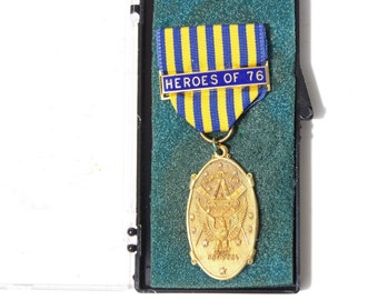 Masonic National Sojourners Ribbon Badge, Heroes of 76
