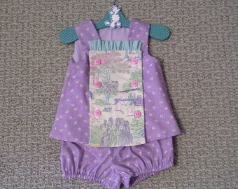 Top and Bloomer Set, Baby Girl, Easter Outfit