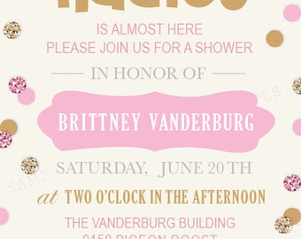 Baby Shower Invite with Book Card
