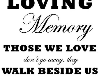 Loving Memory Printable