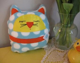Soft Fleece Kitty Pillow