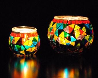 Wanderlust - Handmade Turkish Candleholder Pair