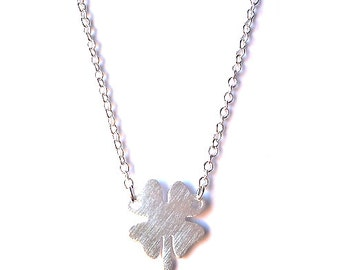Boho Lucky Clover Charm Pendant Necklace