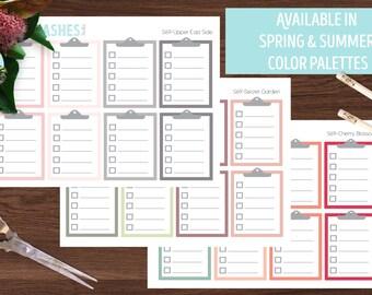 S69- Clipboard stickers, clipboard planner stickers, clipboard checklist stickers, checklist clipboard, checklist stickers, planner stickers