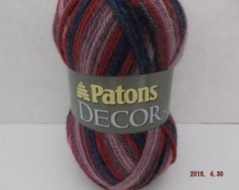 Patons Decor Yarn ~ Wool Blend ~ Escape - Variegated ~ #4 Medium ~ 3.5 oz ~ 208 Yards