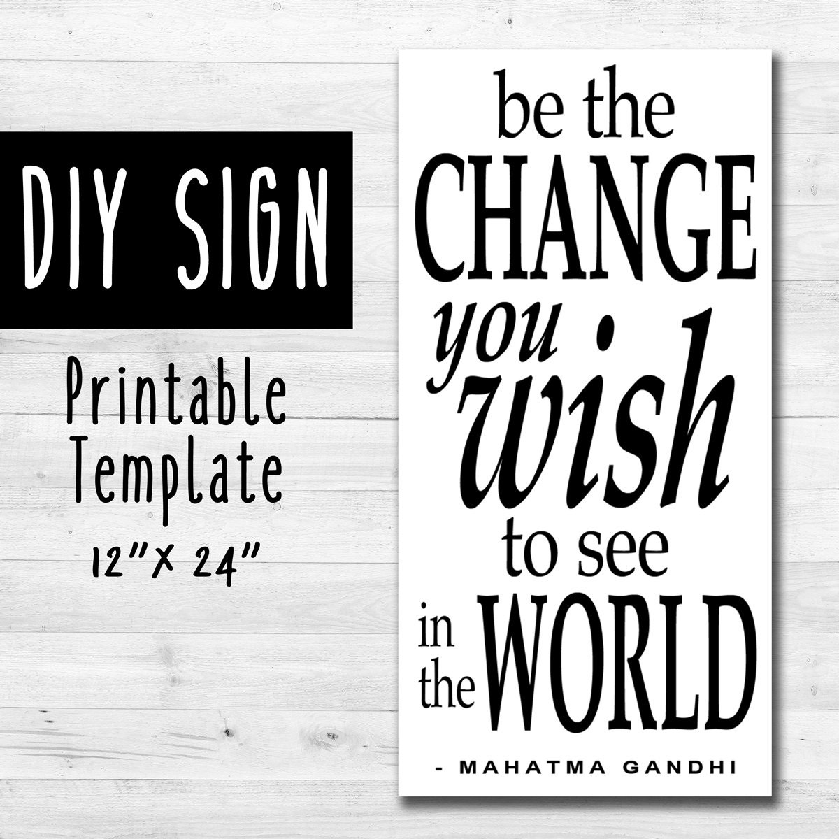 sign templates free downloads - diy sign template instant download 12 x 24 inch sign