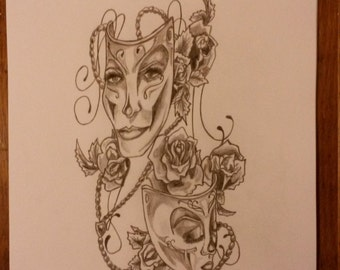 My Drawing Of Theatre Masks.