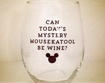 MYSTERY MOUSEKATOOL . dishwasher safe wine glass
