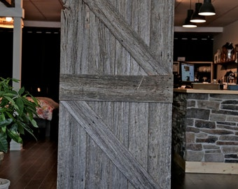 Grey Wood Barn Wood Door