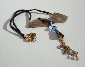 bronze neck perles swarovski RAS