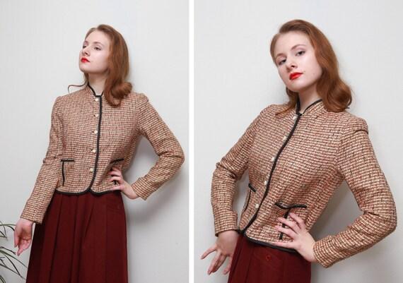 vintage doncaster s jacket woven fabric side pockets