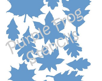 Fall Leaves Stencil, Halloween, Autumn  (Reusable),  Different Sizes Available