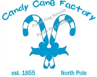 Candy Cane STENCIL,  Christmas (Reusable) Different Sizes Available