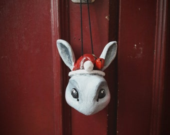 Noël Petit rabbit with Jingle Bell ball