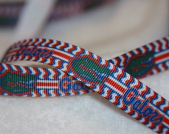 Florida Gators inspired Grosgrain Ribbon 5/8""