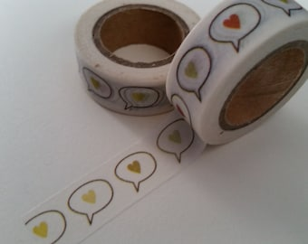 Heart Speech Bubble Washi Tape
