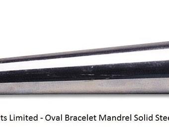 "Solid Steel Bracelet Mandrel Oval Profile 15"" Long Pro Quality Shaping Hammering"