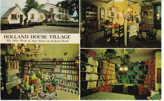 Ann Arbor, MI - Holland House Village - Postcard