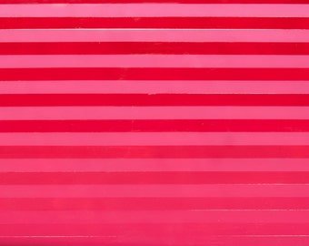 Handmade Pink and Red Striped Acrylic and Resin Painting on Birch Panel