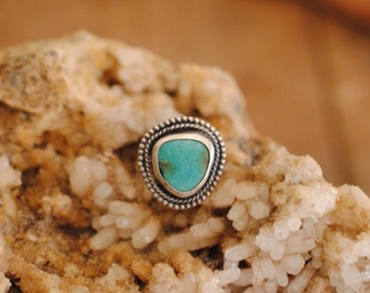 Accented Turquoise Ring | Size 5.5