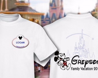 Disney Family Vacation T Shirts Name- Customize it
