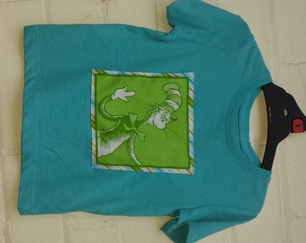 Cat in the Hat Themed Blue T-shirt