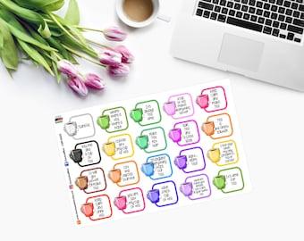 Kawaii TEA Cups Planner Stickers - CAM00231