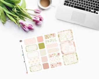 POSH MINI FLORAL Set, Planner Stickers - CAM00276