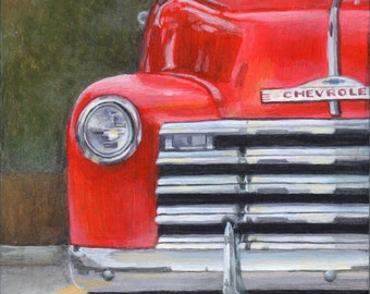 Classic Car Art, Limited Edition Art Print, Giclee of an Original Painting by Debbie Shirley