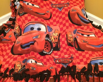 Lightning McQueen Cars No-Sew Fleece Blanket