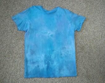 """Blue Tie Dye """"Drip Rag"""" Shirt, size large"""