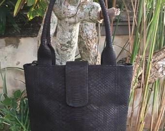 Totes. Python bag. Leather handbag. Handbags. Python handbag. Designer bag. Leather bags. Handmade bag. Handmade gifts.