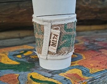 Burlap Coffee Sleeves-Coffee Bean Sack-Reclaimed Coffee Sacks-Recycled Coffee Sack