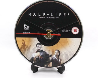 Half-Life 2 PC Upcycled CD Clock Video Game Collectable Gift Idea