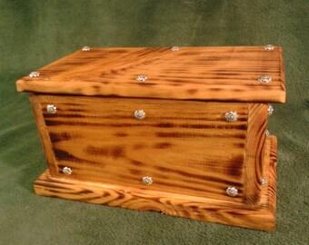 Bauletto porta tutto in legno massello antico