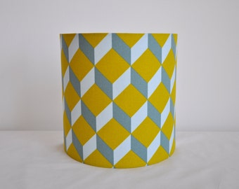 Wall 1/2 cylindrical, blue grey mustard yellow