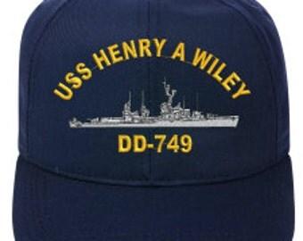USS Henry A Wiley DD-749   Ball Cap   Ne