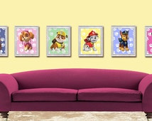 "Paw Patrol Wal Art-Paw Patrol Posters-Bedroom Prints-8,5x11""Digital Print-Instant Download"