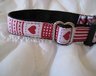 Valentine Heart dog collar