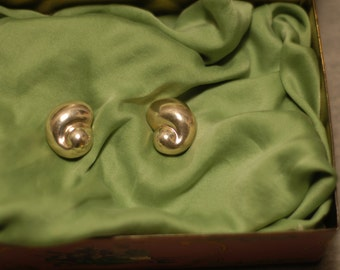Caracol: Vintage Mexican Sterling Snail Earrings