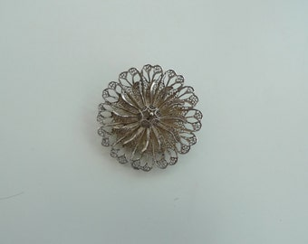 Brooch: Silver lace