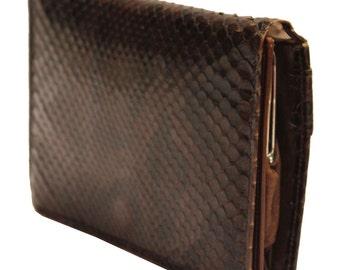 1950's Dark Brown Snakeskin Wallet