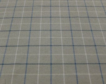 The Dufy Collection, Upholstery weight plaid. Blue, White and gray. Very soft! Very Handsome!