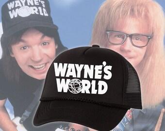 Wayne's World Wayne Campbell Garth Algar Cosplay Trucker Foam Mesh Party Hat