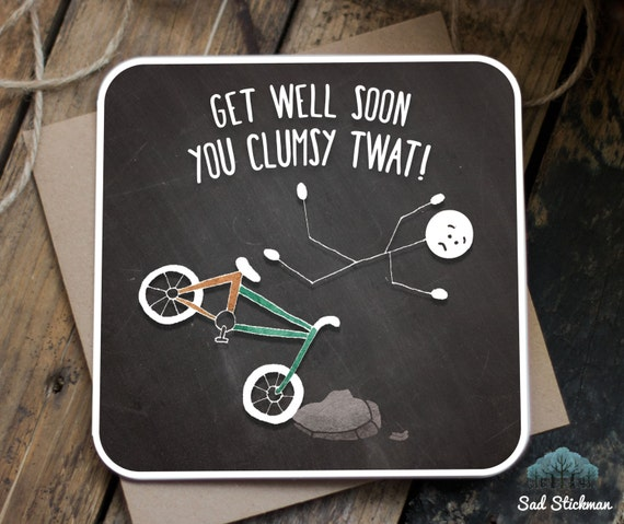 Feel Well Soon Messages: Funny Get Well Soon Card / Get Well Soon / Funny By